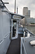 German army military ships based in Canary Wharf aria