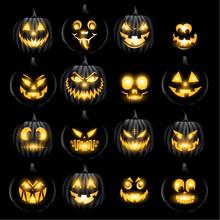 Set Of Jack O Lantern Pumkins ...