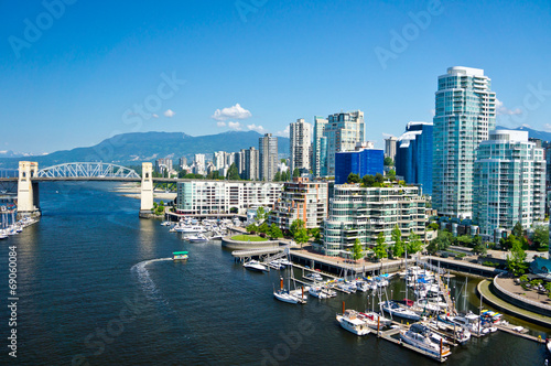 Spoed Foto op Canvas Canada Beautiful view of Vancouver, British Columbia, Canada