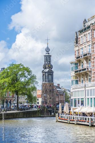 The Munttoren tower in Amsterdam, Netherlands. Canvas Print