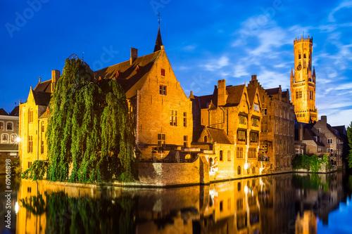 In de dag Brugge Rozenhoedkaai, Bruges in Belgium