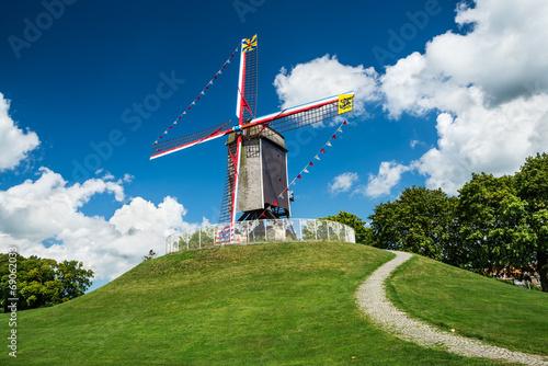 Poster Molens Sint-Janshuis Mill, Bruges