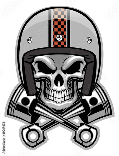 2f6470e6de2c5 skull and crossed piston - Buy this stock vector and explore similar ...