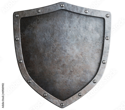 Fotografie, Obraz metal shield isolated