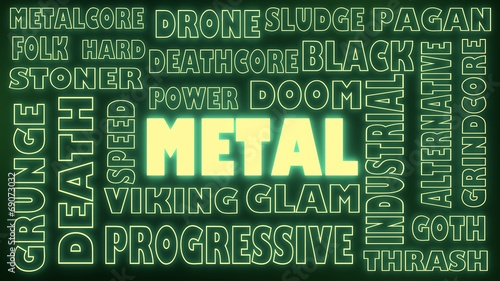 Photo  metal genres tags cloud