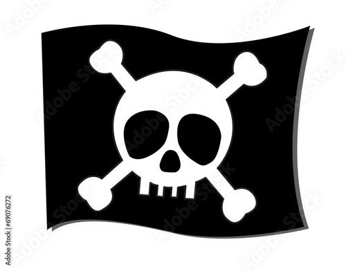 Photo  flag crossbones