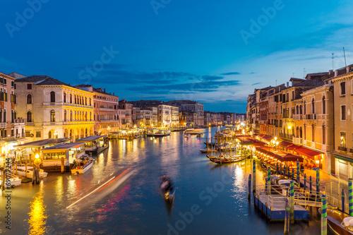 Fototapeta Grand Canal from the Rialto bridge, Venice Italy obraz na płótnie