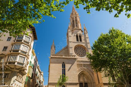 Foto op Plexiglas Bedehuis Santa Eulalia church, Palma de Mallorca