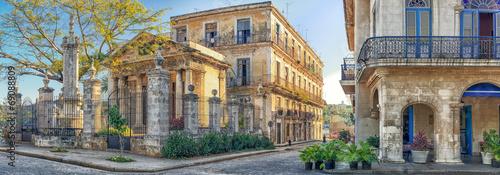 mata magnetyczna Kolonialne budynki w Starej Hawanie