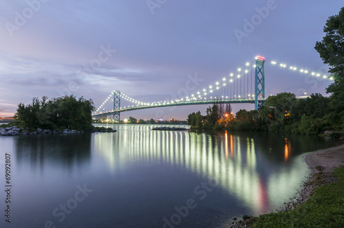Deurstickers Brug Ambassador bridge Windsor ontario