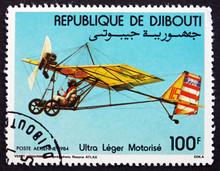 Postage Stamp Djibouti 1984 Motorized Hang Glider