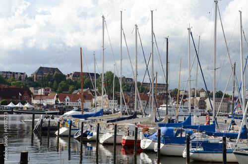 Foto auf AluDibond Stadt am Wasser Flensburg