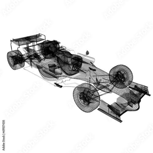Foto op Plexiglas F1 Formula One Mesh