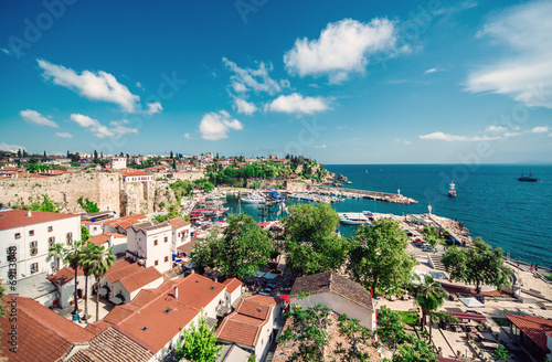 Aluminium Prints Turkey Antalya cityscape. Turkey