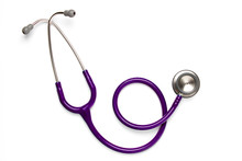 Old Purple Stethoscope On Isol...