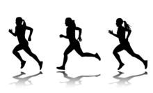 Silhouette Of Female Sprinter ...