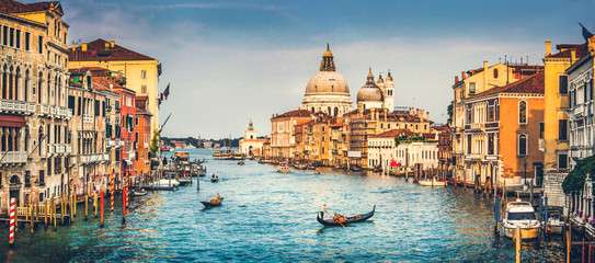 Obraz na SzkleGrand Canal and Santa Maria della Salute at sunset, Venice