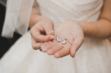 The Bride Shows Ornaments.