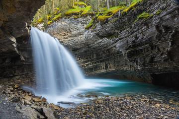 Fototapeta Waterfall at the Johnston Canyon Canada