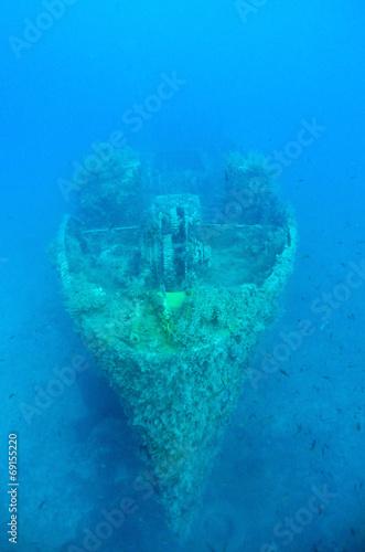 Foto op Canvas Schipbreuk Ghostly Ship wreck