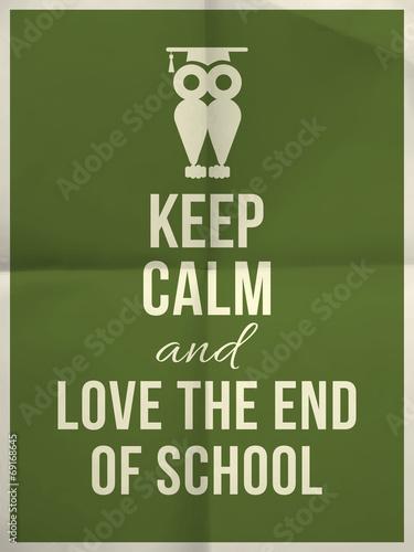 zachowaj-spokoj-i-kochaj-koniec-szkoly-projekt-typograficzny-cytat-o