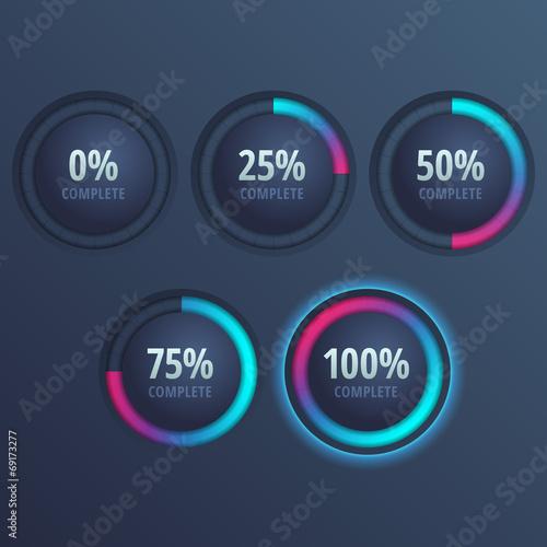 Fotografía  Vector progress bars for website and applications