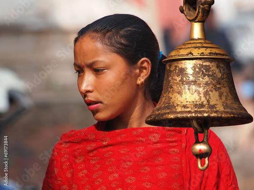 Fotografie, Obraz  Nepali girl