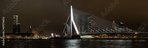 Keuken foto achterwand Rotterdam Panorama Erasmusbrug-Rotterdam Zuid