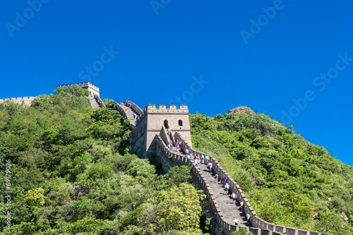 Foto op Canvas Chinese Muur The Great Wall of China - Mutianyu section