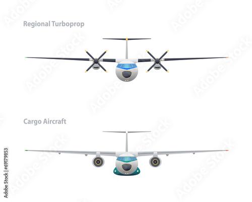 Regional turboprop and cargo aircraft Tapéta, Fotótapéta
