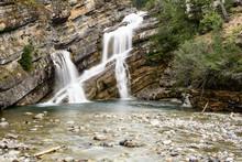 Cameron Falls At Waterton Lakes National Park In Alberta, Canada