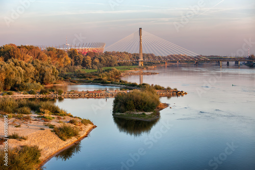 Vistula River in Warsaw