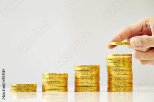Fotografía  golden coins