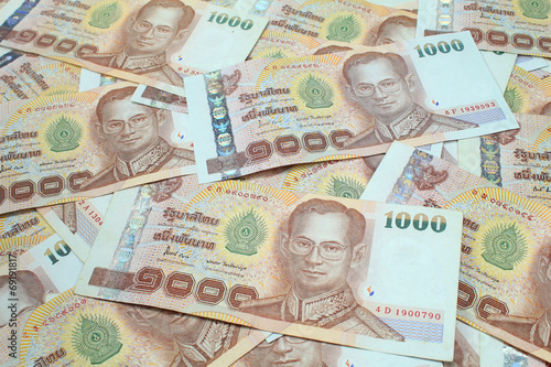 Fotografia, Obraz 1000 baht banknotes