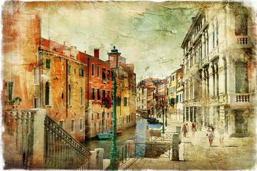 Fototapeta Wenecja pictorial streets of Venice. artistic picture