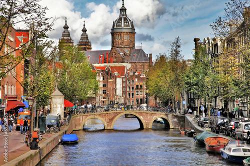 Ingelijste posters Amsterdam beautiful Amsterdam canals