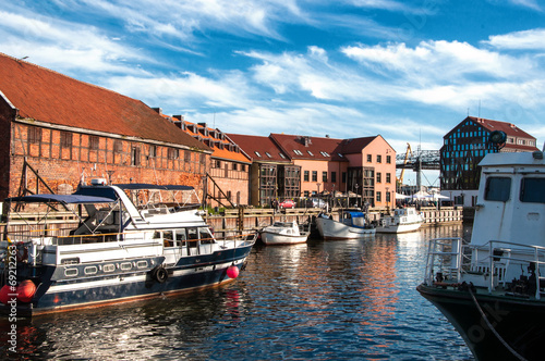 Canvas Prints Ship Old town of Klaipeda. Lithuania
