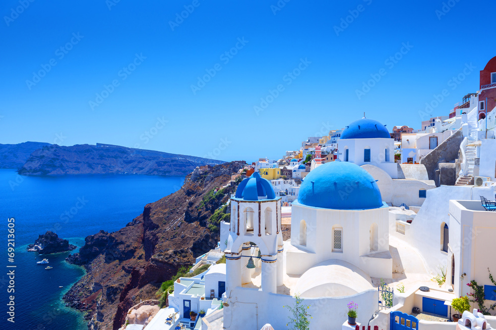 Fototapety, obrazy: Village of Oia in Santorini
