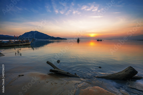 Valokuva Sunset ebb