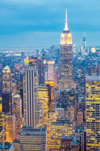 Foto op Aluminium New York New York City skyline dusk USA