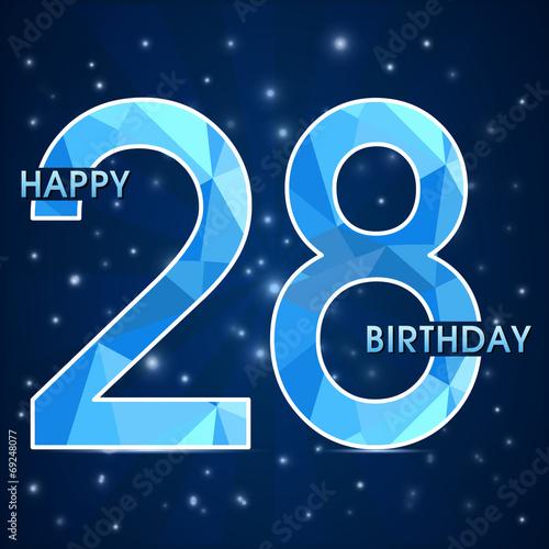Fotografia  28 year birthday, 28th anniversary polygon emblem8