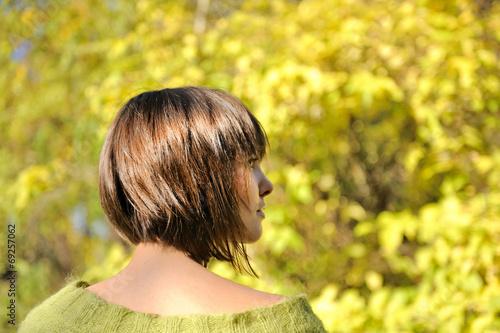 Fotografia Young woman wearing short bob hairstyle.