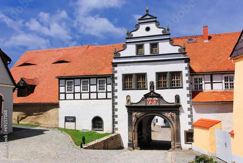 Eingangsportal Schloss Lauenstein Canvas Print