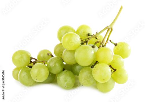 Fotografia, Obraz  Green grape isolated on white