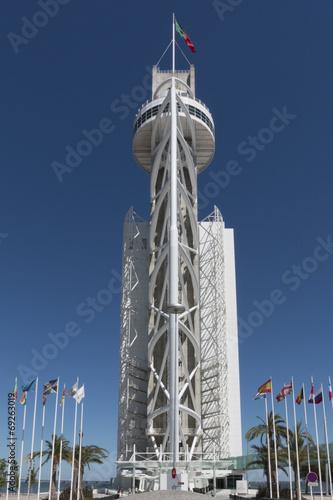 Photo  Vasco da Gama Tower in Lisbon