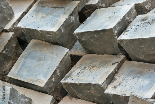 Fototapety, obrazy: Granite paving sets stacked ready for use