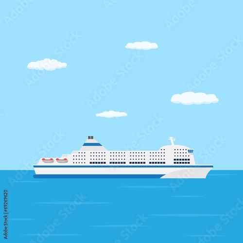 Obraz na płótnie ferry boat