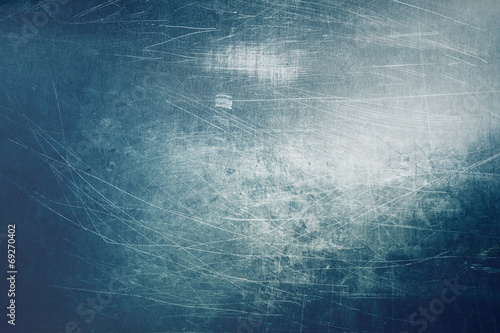 Blue scratched metal texture background