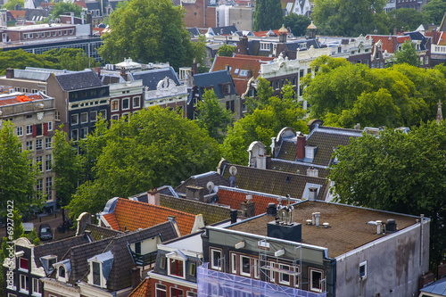 Photo  Amsterdam, Netherlands. A view of the city from the Westerkerk