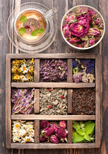 Dried Herbs And Flowers  In Vi...